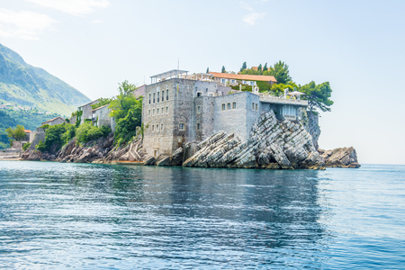 The famous island of St. Stephen in the Adriatic Sea near Budva. Montenegro. photo