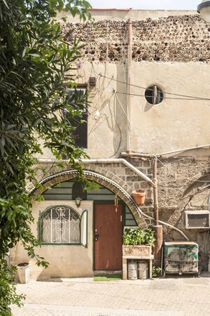 jewish houses: Deserted streets in old Jaffa. Israel