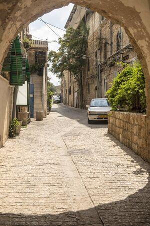jaffa: Deserted streets in old Jaffa. Israel