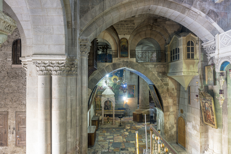 sepulchre: The interior of the main Christian church of St Sepulchre Ascension of Christ
