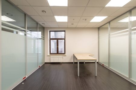 unfurnished: Modern office room renovated unfurnished Stock Photo