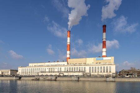 thermal: Thermal power plants CHP and its pipe
