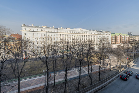 View of the center of Moscow in the spring
