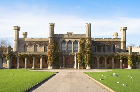 The Lincoln Crown Court is located within the Lincoln Castle grounds. Stock Photo