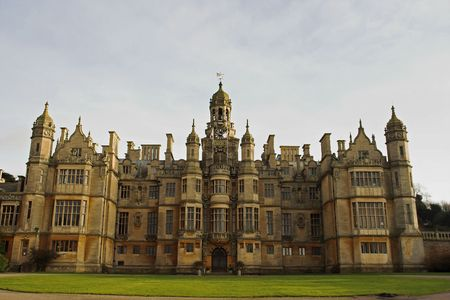 edward: Harlaxton Manor (Lincolnshire, England) once considered as a royal residence by Edward VII, was built from 1837-45 in the Jacobean style from local stone.