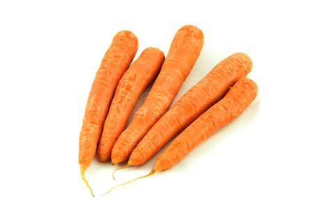Carrots isolated on white. photo
