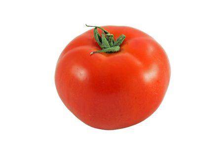 Ripe tomato isolated on white. photo