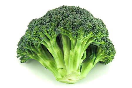 Broccoli isolated over white background. photo