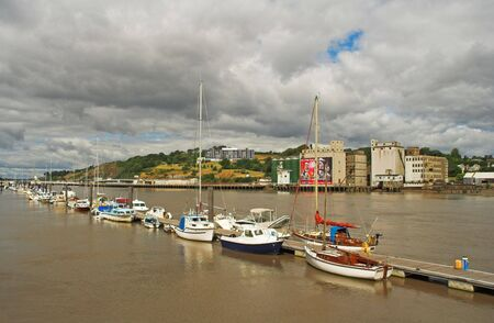 Boat haven on river Suir, Waterford, Ireland.