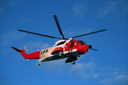 Rescue helicopter in action. Stock Photo - 632313
