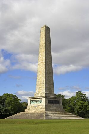 testimonial: Wellington Testimonial , a 62 metres (205 ft) tall obelisk located in Phoenix Park, Dublin, Ireland.