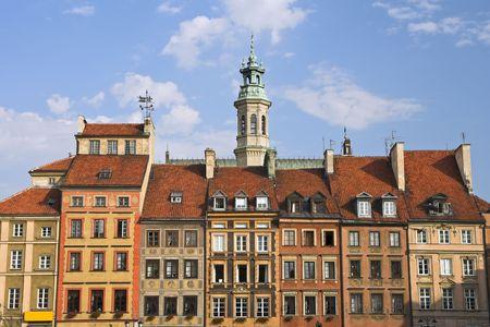 devanture: Maisons dans la vieille ville, Varsovie, Pologne.