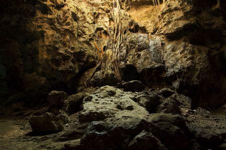 arcane: Beautifully lightened cave, near Petchaburi, Thailand. Stock Photo