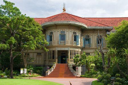 Vimanmek Royal Mansion, the worlds largest golden teak building, Bangkok, Thailand.