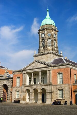 clocktower: Clocktower in Dublin Castle, Ireland. Stock Photo
