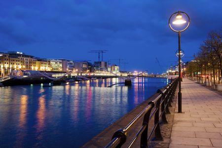 Late hours in Dublin, Ireland.