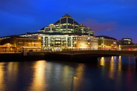 Dusk in Dublin downtown, Ireland.
