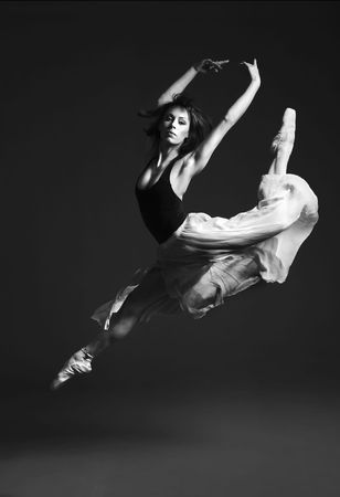 Beautiful young ballet dancer dancing.