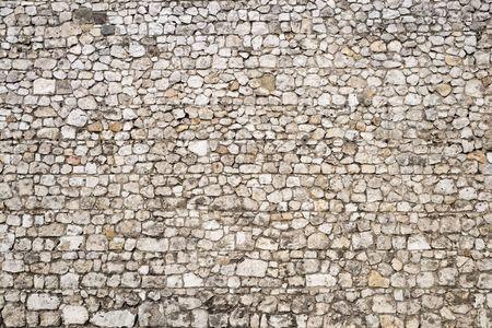 castello medievale: Vecchio muro di pietra sfondo del castello medievale.