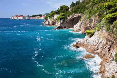 adriatic: Adriatic Sea coastline in Croatia, South Dalmatia, near Dubrovnik