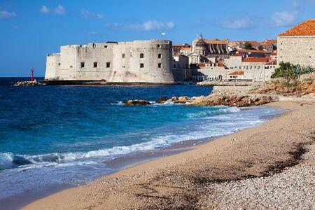 Dubrovnik Old City on the Adriatic Sea in Croatia, South Dalmatia region
