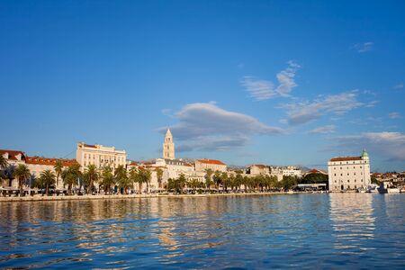 Split cityscape on the Adriatic Sea in Croatia