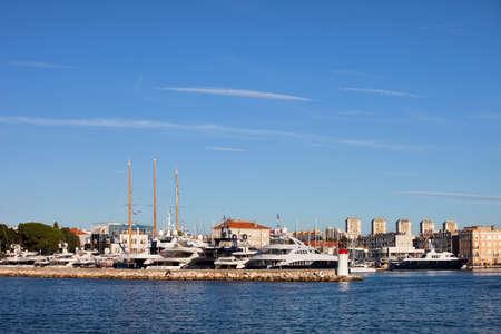 Harbor in Zadar, Croatia, lots of copy space photo