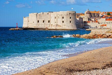 Dubrovnik Old City on the Adriatic Sea in Croatia, South Dalmatia region photo