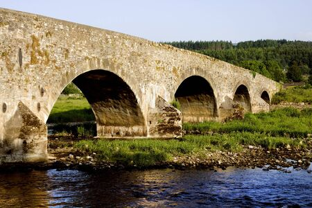 county tipperary: Picturesque scenery by the old bridge across the Suir river in county Tipperary, Ireland Stock Photo