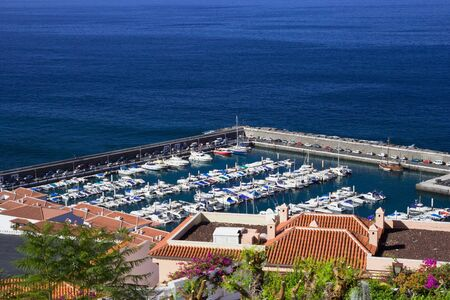 Los Gigantes marina by the Atlantic ocean in Tenerife, Canary Islands, Spain photo
