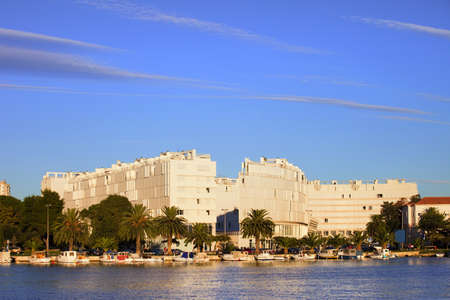 Zadar waterfront architecture in Croatia photo
