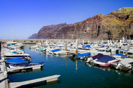 canary islands: Los Gigantes tranquil marina in Tenerife, Canary Islands, Spain