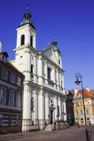 17th: The Baroque 17th century Church of the Holy Spirit in New Town, Warsaw, Poland