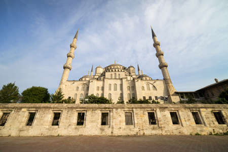 Sultan Ahmet Mosque architecture also known as the Blue Mosque in Istanbul, Turkey, Sultanahmet district, view from the back Stock Photo - 9876346
