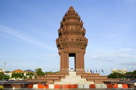 penh: Independence Monument (Vimean Ekareach) in Phnom Penh, Cambodia Editorial