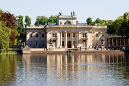 lazienki: Palace on the Water, also called Lazienki Palace in Lazienki Royal Park, Warsaw, Poland