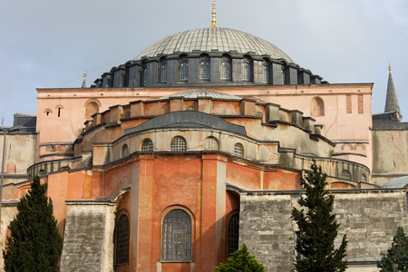 aya: Byzantine architecture of the Hagia Sophia ( The Church of the Holy Wisdom or Ayasofya in Turkish ), a famous historic landmark in Istanbul, Turkey Editorial