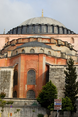 hagia: Byzantine architecture of the Hagia Sophia ( The Church of the Holy Wisdom or Ayasofya in Turkish ), a famous historic landmark in Istanbul, Turkey Editorial