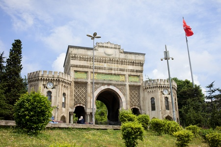 east gate: Historical main gate to the Istanbul University in Istanbul, Turkey