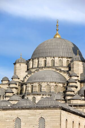 camii: The New Mosque (Turkish: Yeni Valide Camii) in Istanbul, Turkey