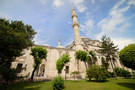 The Mosque of the Prince (Turkish: Sehzade Mehmet Camii) beautiful scenery in Istanbul, Turkey Stock Photo - 10023395