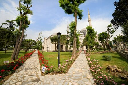 The Mosque of the Prince (Turkish: Sehzade Mehmet Camii) beautiful scenery in Istanbul, Turkey Stock Photo - 10023397