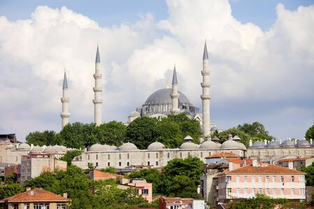 Suleymaniye Mosque, an Ottoman imperial mosque historic architecture in Istanbul, Turkey. Stock Photo - 10023390