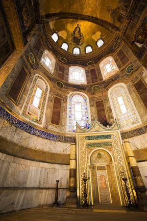 hagia: Mihrab in the Hagia Sophia (also called Hagia Sofia or Ayasofya), famous landmark in Istanbul, Turkey