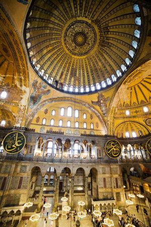 hagia: The Hagia Sophia (also called Hagia Sofia or Ayasofya) architecture, famous Byzantine landmark and world wonder in Istanbul, Turkey