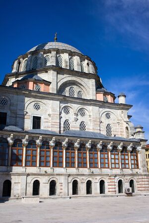Laleli Mosque also called Tulip Mosque baroque style exter architecture, Ottoman imperial mosque built by Sultan Mustafa III from 1760–1763 Stock Photo - 10284156