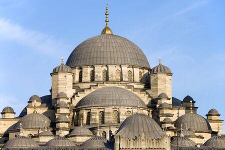 camii: New Mosque (Turkish: Yeni Valide Camii) historic landmark architectural details in Istanbul, Turkey Stock Photo