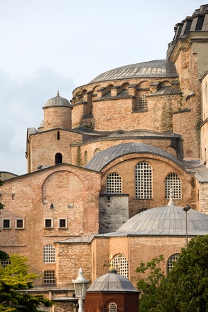 hagia sophia: Byzantine architecture of the Hagia Sophia (The Church of the Holy Wisdom or Ayasofya in Turkish), a famous historic landmark in Istanbul, Turkey