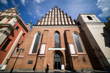 gothic church: Gothic style Archcathedral Basilica of the Martyrdom of St. John the Baptist in Warsaw Old Town, Poland