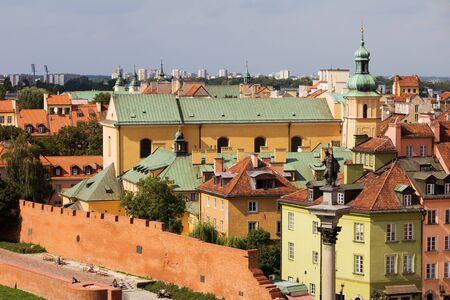 stare miasto: Old Town (Polish: Stare Miasto, Starowka) architecture in Warsaw, Poland Stock Photo